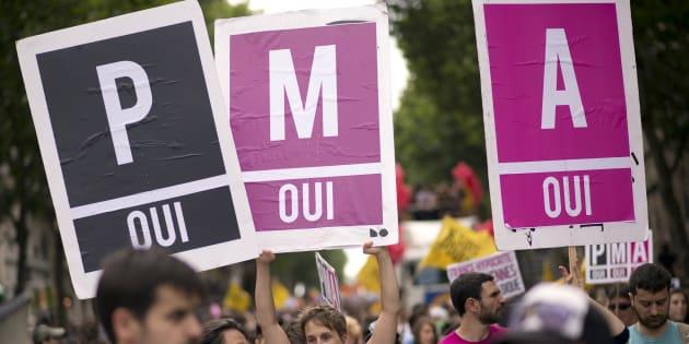 Lors de la Gay Pride 2013 à Paris.
