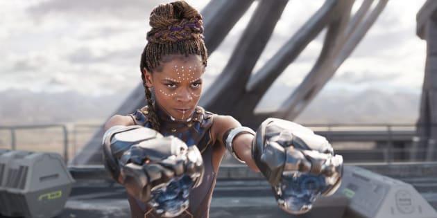 Letitia Wright, dans le rôle de Shuri, dans Black Panther.