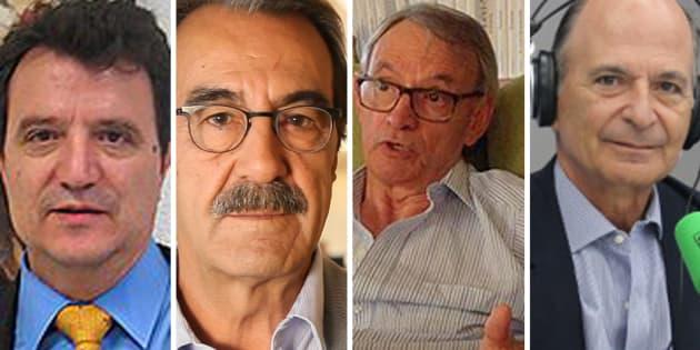 De izq. a dcha: Santos Ruesga, Emilio Ontiveros, Anton Costas y Carlos R. Braun.