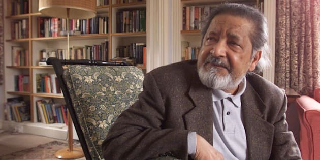 "British author V.S. Naipaul at his home near Salisbury, Wiltshire, October 11, 2001 after it was announced that he has been awarded the Nobel Prize for Literature. The 69-year-old, Trinidad-born writer landed the award for ""having united perceptive narrative and incorruptible scrutiny in works that compel us to see the presence of suppressed histories"", according to the prize academy. (UK OUT; NO ONLINES) REUTERS/Chris Ison/POOL  DC/MC"