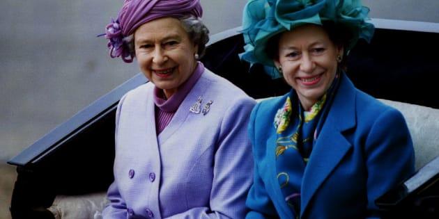 Queen Elizabeth II and Princess Margaret.