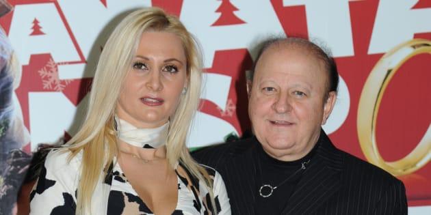 presentazione del film A Natale mi sposo  nella foto  Loredana De Nardis,  Massimo Boldi 24/11/2010