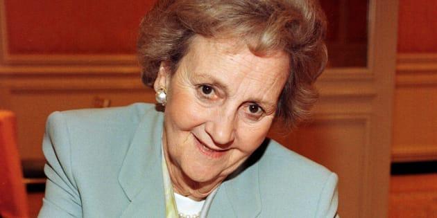 Katharine Graham (1917-2001) en una imagen de 1997 (Photo by Vince Bucci/Getty Images).