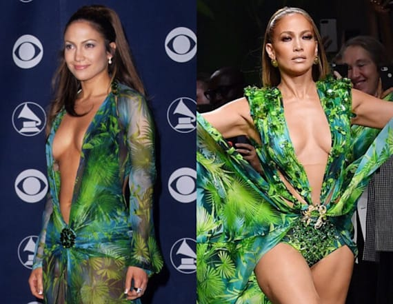 J.Lo dons iconic green Versace gown