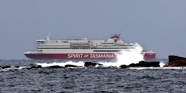 A search is underway after a man tumbled overboard in Bass Strait.