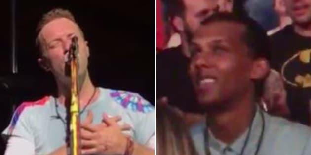 """Coldplay reprend """"Formidable"""" en concert devant Stromae, et il a apprécié"""