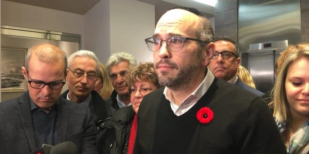 Le chef intérimaire d'«Ensemble Montréal», Lionel Perez.