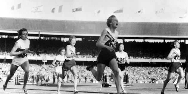 Cuthbert is the only person, man or woman, to win a gold Olympic medal in all three sprinting events (100m, 200m and 400m).
