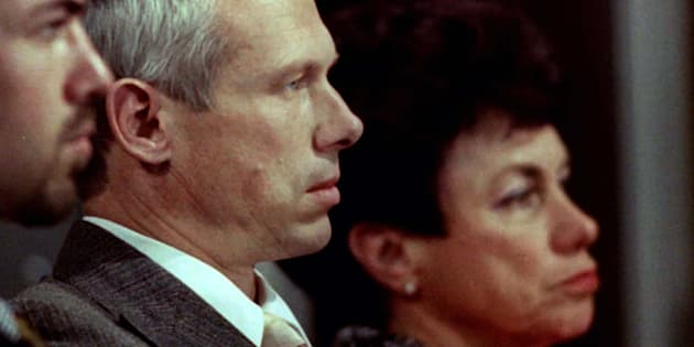 Janusz Walus (C) at the Truth and Reconciliation Commission hearing at Pretoria City Hall, August 19, 1997.