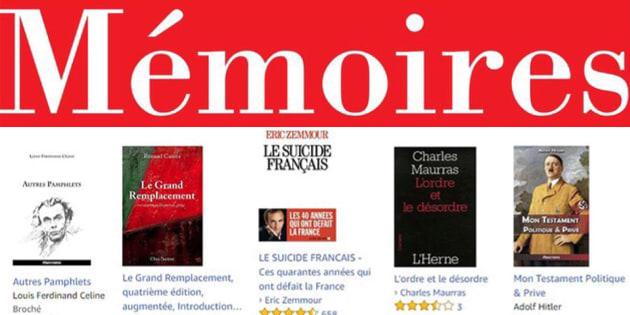"""Jean-Marie Le Pen: les clients ayant acheté les """"Mémoires: Fils de la nation"""" ont également acheté..."""