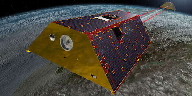 """Comment ces deux satellites vont """"peser"""" l'eau sur Terre"""