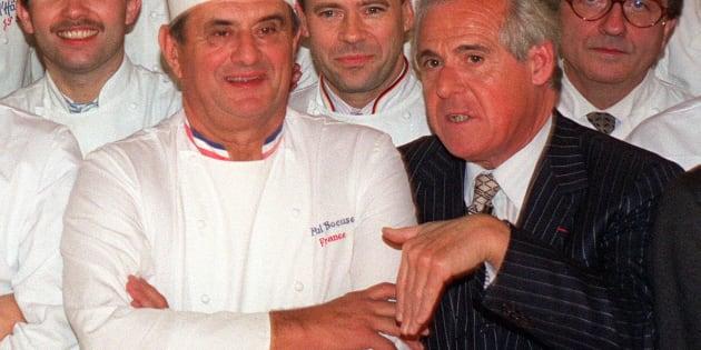 Christian Millau (à droite) et Paul Bocuse.