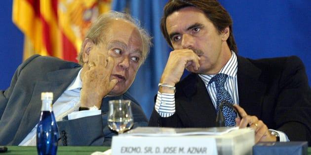 Pujol y Aznar en una imagen de septiembre de 2003.