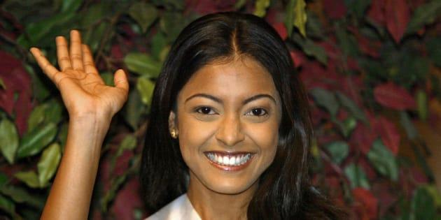 Tanushree Dutta photographiée à Quito en Equateur en mai 2004.