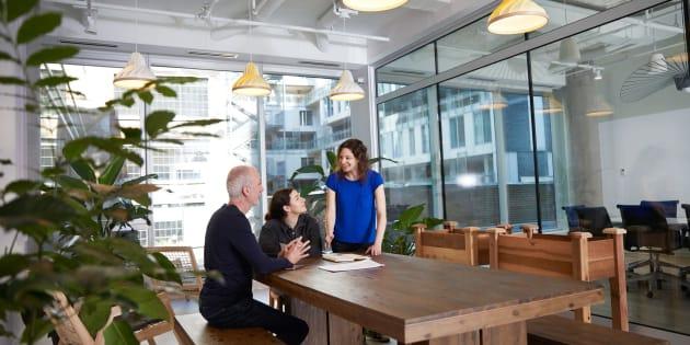 Une image des bureaux de Shopify à Montréal.