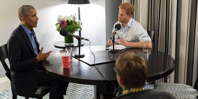 Prince Harry interviews Barack Obama for a BBC Radio 4 program.