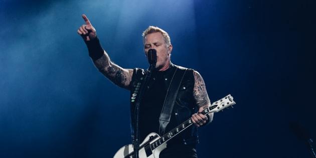 Une marée humaine a envahi les Plaines pour le spectacle de Metallica, le 14 juillet 2017. (ROGER PHOTO)