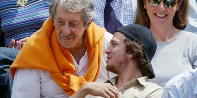 Jean Rochefort et Guillaume Canet à Roland Garros en 2003.