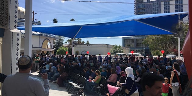 More than 200 people attended an interfaith solidarity event at the Islamic Community Center of Tempe on Saturday.