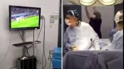 Ces chirurgiens opèrent en regardant Chili-Portugal en Coupe des