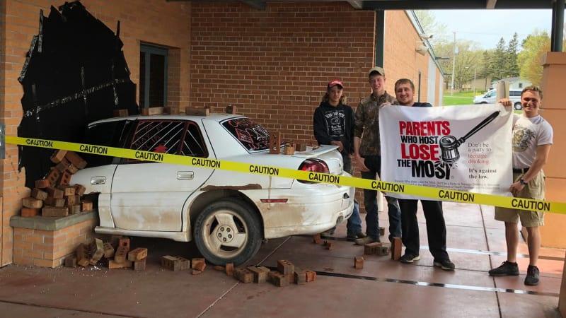 Wisconsin high-school seniors pull off epic fake-crash prank
