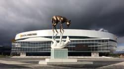 Un clin d'oeil aux Nordiques a été caché dans la sculpture de la place