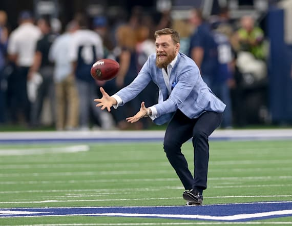 Conor McGregor parties with Dallas Cowboys