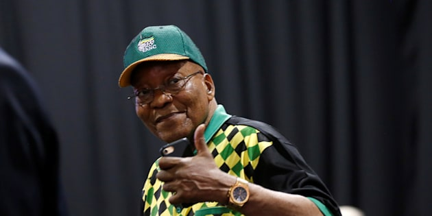 President of South Africa Jacob Zuma during the ANC's 54th National Conference.