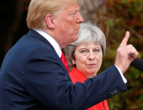 May says Trump told her to sue the EU over Brexit