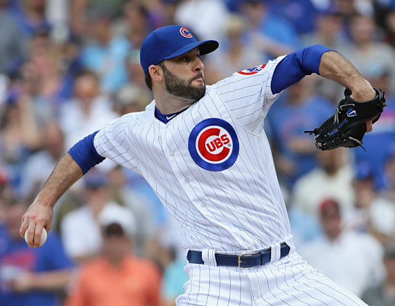 Cubs pitcher hurts himself taking off his pants