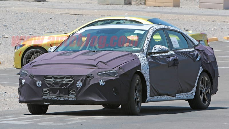 ce8e91e7bce Next Hyundai Elantra spotted sporting a sleek new look ...