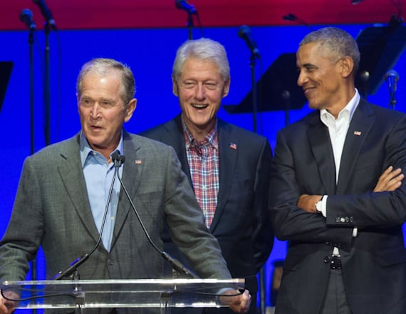 WATCH: Bush cracks up Obama at historic meeting