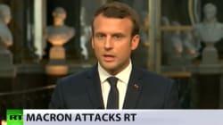 Comment RT a répondu à l'antenne aux accusations de propagande formulées par Macron face à