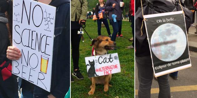 Le meilleur des pancartes lors des marches pour les sciences en France et ailleurs.