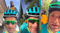 Les fans de Michele Scarponi regretteront les images de ses entraînements avec... un