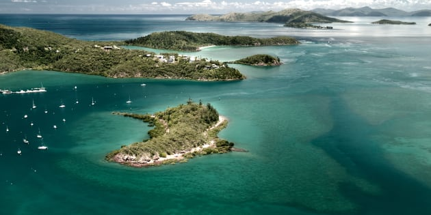 The earthquake hit off coastal Bowen, near Hamilton Island