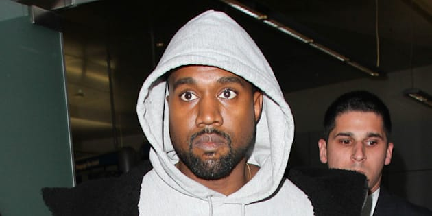 Kanye West seen at LAX a week before his hospitalization.