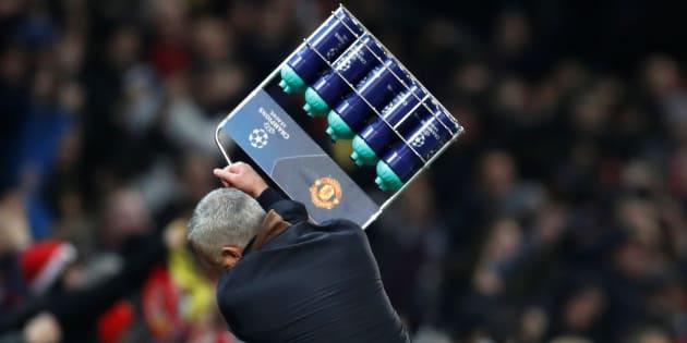 José Mourinho en forme après le but de son équipe mardi soir à Old Trafford.