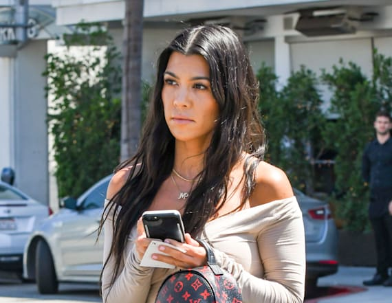 Kourtney Kardashian rocks completely sheer blouse