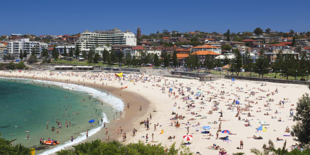 Coogee Beach in its usual state.