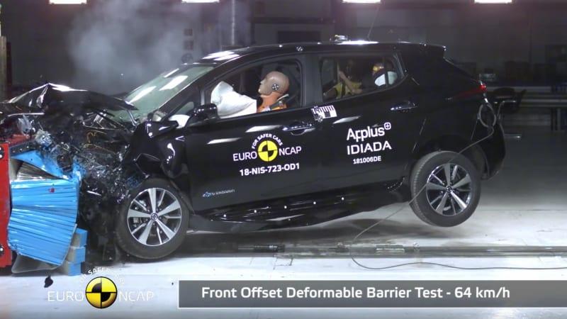 Watch 2018 Nissan Leaf In Euro Ncap Safety Testing Autoblog