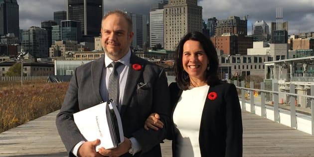 La mairesse Valérie Plante et le président du comité exécutif, Benoit Dorais, ont présenté un budget 2019 qui comprend une importante baisse de taxes pour les petits commerçants.