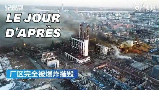 Les images de désolation après l'explosion d'une usine chimique en