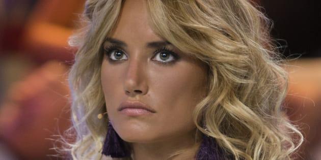 La modelo Alba Carrillo durante el debate final del programa 'Supervivientes' el 21 de julio de 2017.