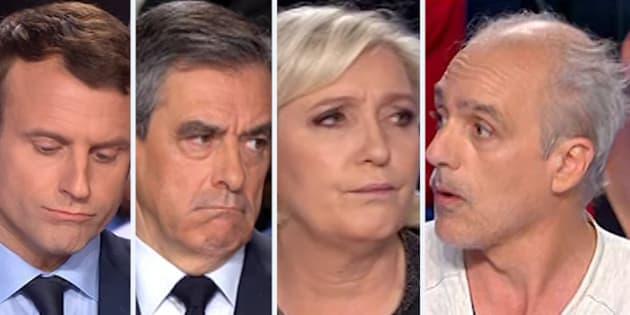 Les punchlines de Poutou auxquelles Macron, Fillon et Le Pen ont échappé lors du débat