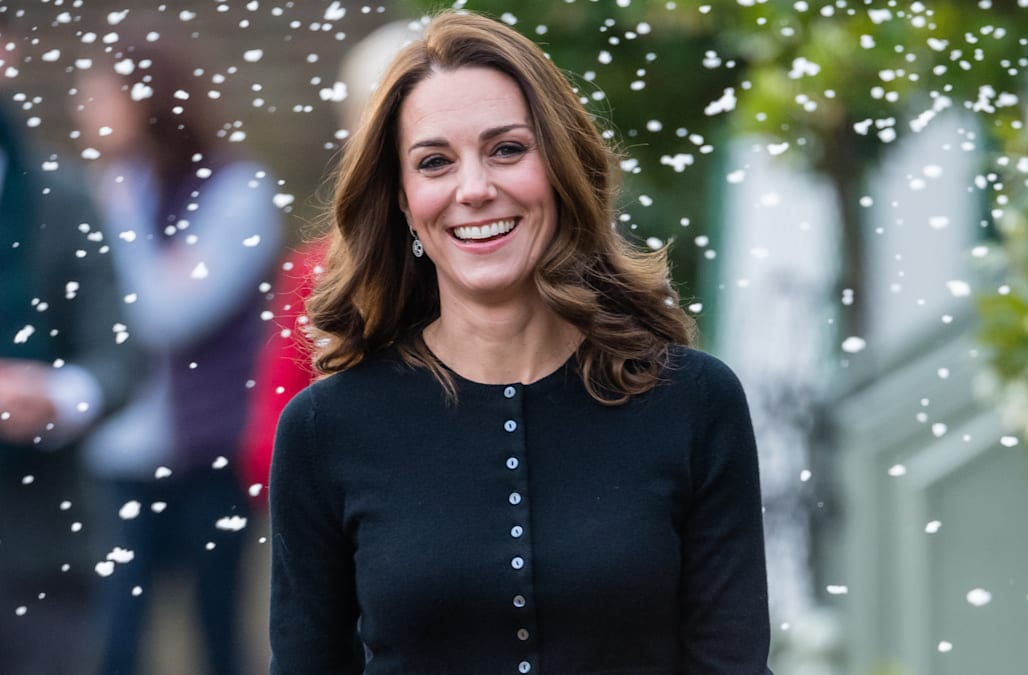 797f5696f3 Duchess Kate is festive in red Emilia Wickstead to bring holiday ...