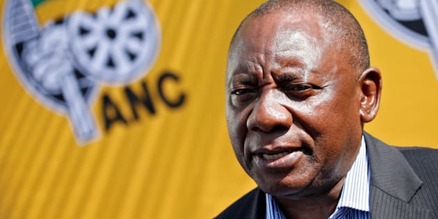 President Cyril Ramaphosa, at the time newly elected ANC president but still deputy president of the nation, speaks to the media ahead of the ANC's 106th-anniversary celebrations in East London, January 12 2018.