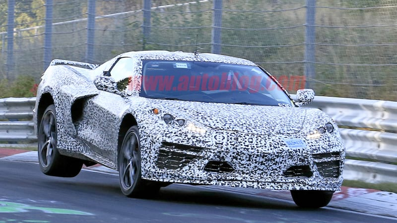 Mid Engine Chevy Corvette Spy Shots At The Nurburgring Autoblog