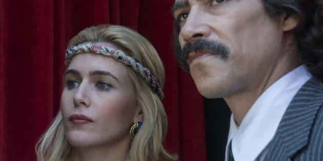 Marcela Basteri y Luis Rey, personajes en la serie.
