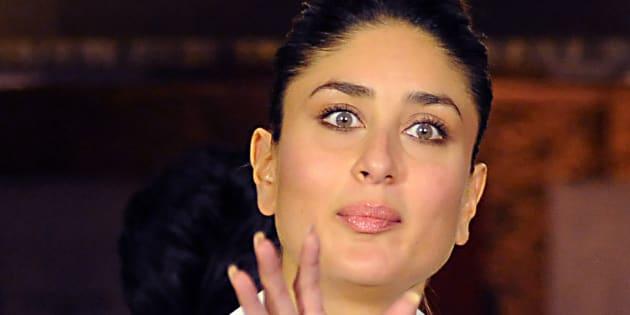 Bollywood actress Kareena Kapoor gestures during the promotion of her film Ki & Ka.
